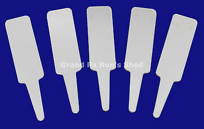 95mm x 22mm White Plastic Plant Labels Tags UV Stabilized Pack of 100