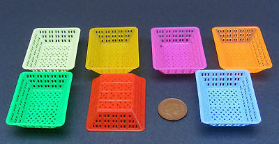 1:12 Scale Medium Size Dolls House Miniature Plastic Basket Kitchen Accessory