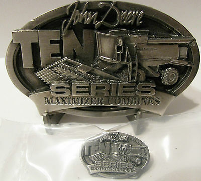 *John Deere 9510 Maximizer Combine Belt Buckle & Tie Clasp Hat Pin SET 9410 9610