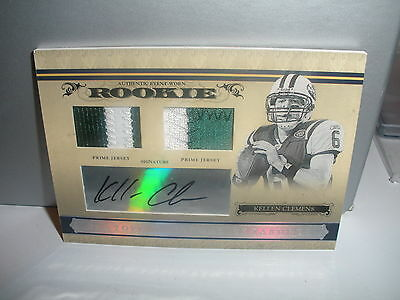2006 National Treasures Kellen Clemens Dual Auto Patch 10/99 Matching His Jersey