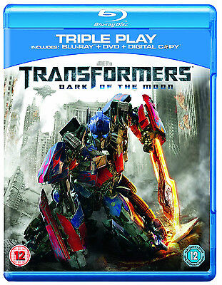 Blu-Ray   Transformers Dark Of The Moon  Triple Play     New Sealed Uk Stock