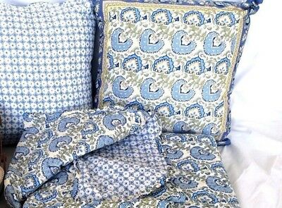 Earth & Sky Quilted Throw & 2 Pillows Longaberger NEW IN BAGS