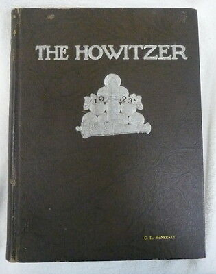 Original 1923 West Point Howitzer Us Army Military Academy Cadet Class Year Book