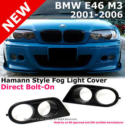 BMW E46 M3 01-06 Ham Style Fog Light Covers Air Duct (ABS)