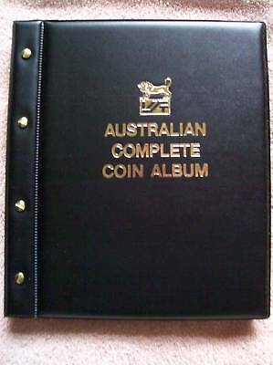 VST AUSTRALIAN COMPLETE COIN ALBUM with Printed Pages BLACK COLOUR 1910 - 2016