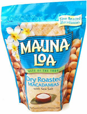 Dry Roasted Mauna Loa Macadamia Nuts 11 Oz Bag