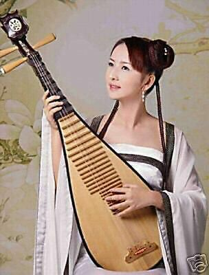 """100% Handicrafts Classic oil painting of A Chinese Girl playing Guitar 24x36"""""""