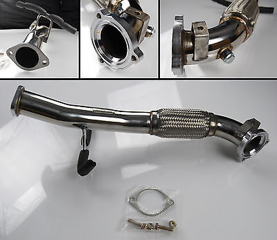 Flexi Exhaust Turbo Downpipe For Ford Focus St 2.5  St225  2.75""