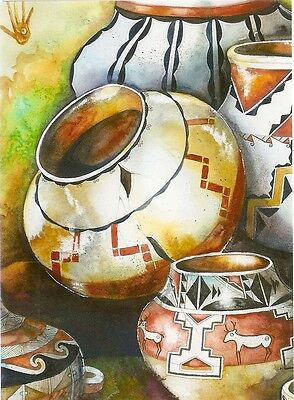 "Blank Notecard - ""UNTITLED"" NATIVE AMERICAN POTS (C) - by Rebecca Kennedy!"