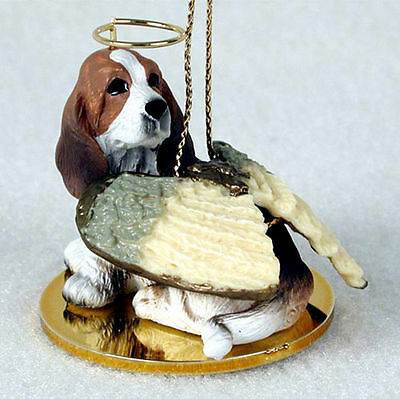 Basset Hound Angel Figurine Ornament Statue Hand Painted