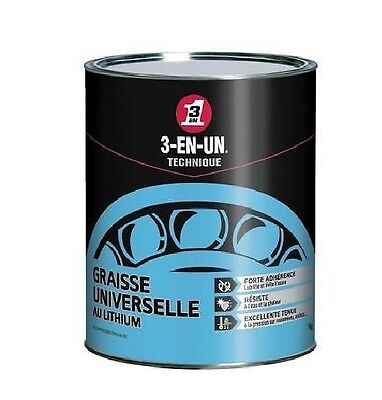 Graisse Universelle Au Lithium 3 En 1 Pot 1Kg Lubrification Engrenage Roulement