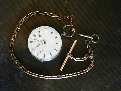 Olivier Quartier Locle Silver Pocket Watch  4678