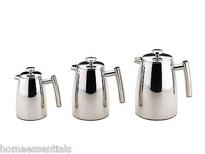 Belmont Double Wall Coffee Maker Stainless Steel Plunger Cafetiere 3 6 8 12 Cup