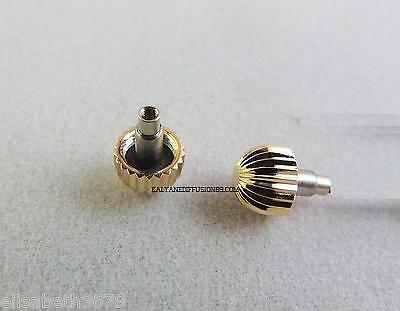 1 remontoir a vis PLOR screw-on crown Yellow gold plated Breitling 5,25 mm ø 1,2