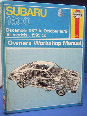 Subaru 1600 Haynes Manual 1977 - 1979 Models HB