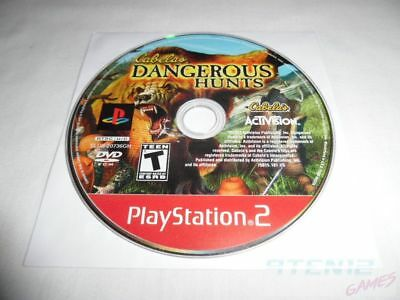 Cabela's Dangerous Hunts - PS2 PlayStation 2 game Disc Only Hunting T Teen GH