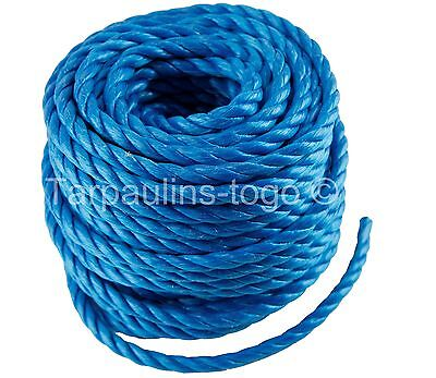 Poly Rope Polypropylene Coils Tarpaulin Camping Agriculture Marine Blue or White