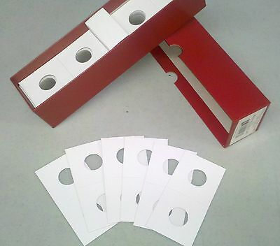 100 2x2 Collector Safe Penny/Cent Coin Flips Cardboard Mylar NEW Wheat Red Box