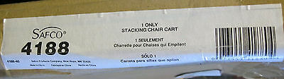 Safco Stacking Chair Cart 4188 Metal Castors Heavy Duty Black