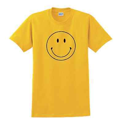 Retro Smiley face Smily tshirt 60's hippie Forrest Gump Adult