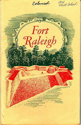 Fort Raleigh North Carolina Historic Site 1961 National Parks Service Guide Book