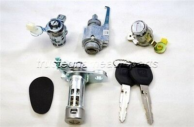 for Honda Accord DX Door Ignition Trunk Cylinder Lock Set Kit 1998 to 2001 2002