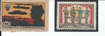 Boy Scout Cinderellas Seals And Labels From Spain, Poland