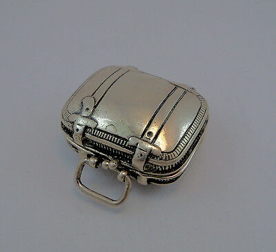 "Astuccio A ""valigia"" In Argento 925 Little Box In Silver Suitcase Shaped"