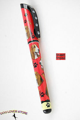 Basset Hound Dog Pen Replaceable Ballpoint Black Ink