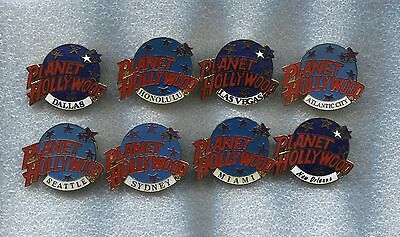 PLANET HOLLYWOOD GLOBE PINS X 8