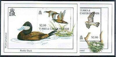 1993 Turks & Caicos Islands 2 Mini Sheets SGMS1236 Unmounted Mint SC350