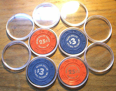 10 Casino Chip Capsules - 40mm - 1 Box - Pack of 10 - Lighthouse Capsules
