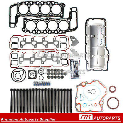 "99-03 DODGE JEEP 4.7L V8 FULL GASKET SET w/ OIL PAN GASKET+HEAD BOLTS VIN ""J, N"""