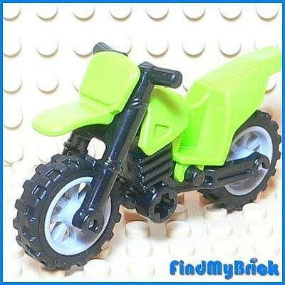 One  NEW  Dirt Bike   LIME GREEN World Racers 2010 7-14 LEGO LEGOS