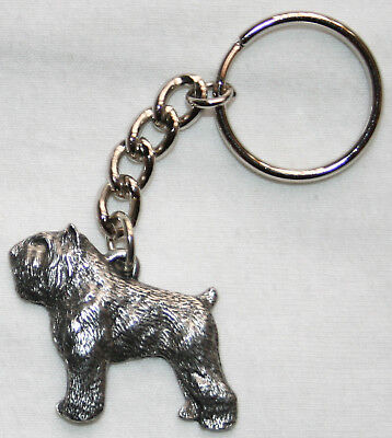 BOUVIER des FLANDRES Dog Pewter Keychain Key Chain Ring