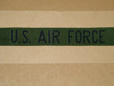 Original Insignia Us Air Force Name Tags Nylon Woven Blue On Green