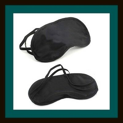 1 x Black Eye Mask - Travel, Blind Fold, Sleeping Aid