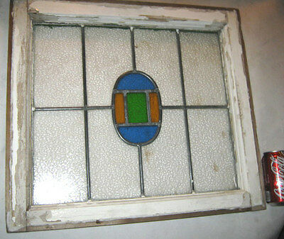 Antique Architectural Garden Wood Stained Glass Chic Home Art Deco Window Shabby
