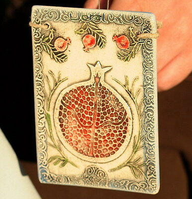 """Pomegranate Fruit 6.3"""" Wall Hanging Home Decor,Sign of Prosperity Health&Wealth"""