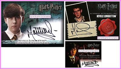 Neville Longbottom Auto Autograph Card PS PoA OP DH HV Matt Lewis Harry Potter