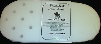 PRAM SAFETY MATTRESS - Quinny Buzz - Carry Cot - Removable Mesh Cover