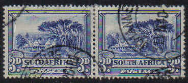 STAMPS  from  SOUTH AFRICA  SG35 pair  Perf. 14  3d+3d  (FU - USED)  lot  706