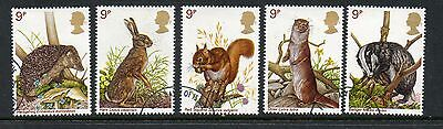 GB 1977 British wildlife fine used set stamps