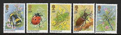 GB 1985 Insects unmounted mint set stamps