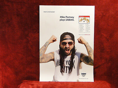 TWO    Dream Theater *Mike Portnoy* Sabian Posters