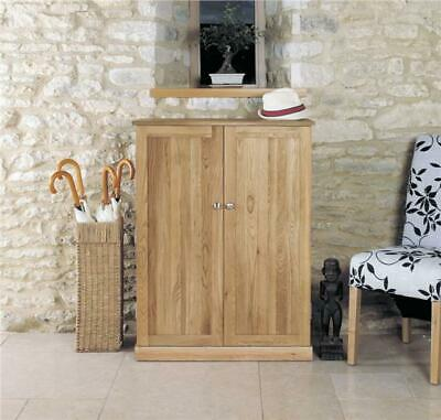 Fusion Solid Oak Wooden Hall Furniture Large Shoe Rack Cabinet Cupboard Storage