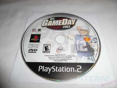 NFL GameDay 2003 - PS2 PlayStation 2 game Disc Only Football Game Day 03 989 E