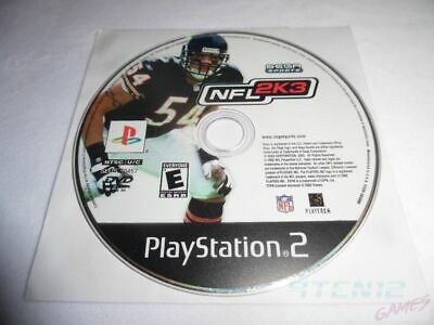 NFL 2K3 - PS2 Sony PlayStation 2 game Disc Only SEGA Sports Football 2003 03 E