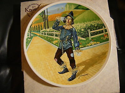 Wizard of Oz Scarecrow If I Only Had A Brain Knowles Collector Plate Box COA MGM