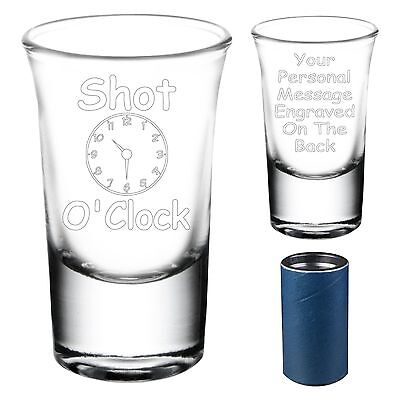Personalised Shot Glass 18th 21st 30th Birthday -  Stag/Hen Party Engraved Gift